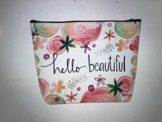 makeup bag/hello beautiful/