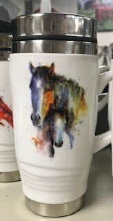 Drinkware/Mom & Foal ceramic Travel Mug