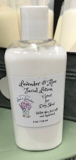 Land of Lavender/4 oz. Lavender Aloe face lotion