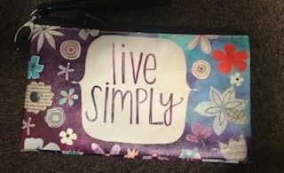 zipper pouch/large/vinyl/live simply