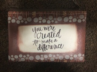 zipper pouch/vinyl/you were created saying