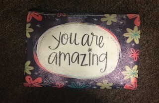 zipper pouch/vinyl/you are amazing saying