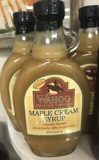 Wahoo Frontier/ Maple Cream Syrup/Made in Wyo.