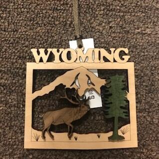Wyoming souvenir/wooden ornament