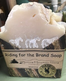 Wyoming Mountain Song Soap/ Riding for the Brand  Made in Wyoming
