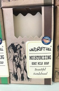 Windrift Hill/ goats milk soap/ Beautiful Sandalwood