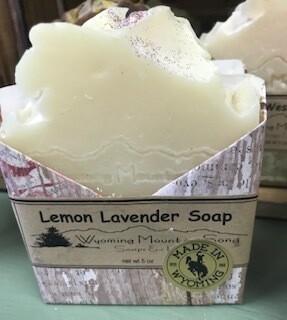 Wyoming Mountain Song Soap/ Lemon Lavender  Made in Wyoming