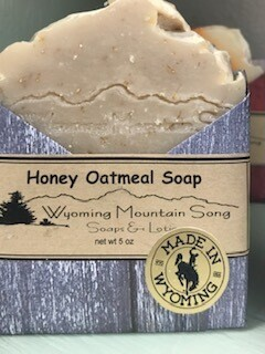 Wyoming Mountain Song Soap/ Honey Oatmeal  Made in Wyoming