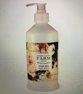 Sweet Grass Farm Peony Rose Lotion