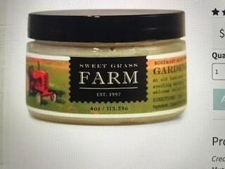 Sweet Grass Farm muscle balm
