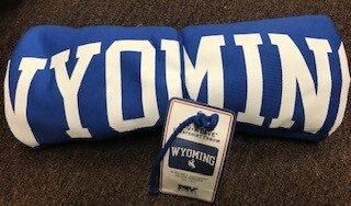 Wyoming/Sweatshirt Blanket/Blue 40x52
