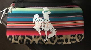 Zipper Pouch/Serape & leopard with steamboat/Wyhomeing