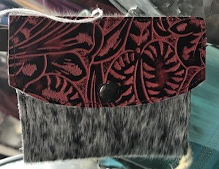 coin purse/key chain/leather/hair on/hand made