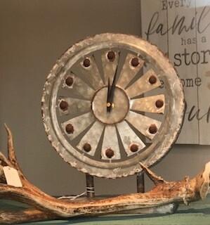 Home Decor/Windmill Clock/Galvanized metal