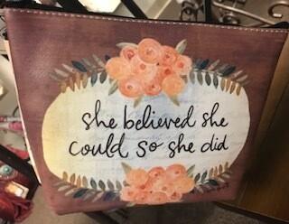 make up bag/she believed she could so she did/vinyl