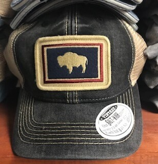 Hat/Wyoming Flag/black/trucker style