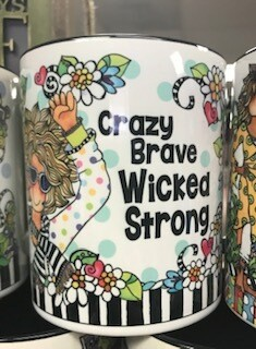 Drinkware/Mug/crazy,brave,wicked, strong