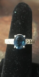Ring/hand crafted by Wyoming artist/London Blue Topaz