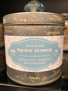 Candle/Rosy Ring/Pacific Flower/Lg. Tin