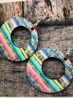 Earring/Leather//serape