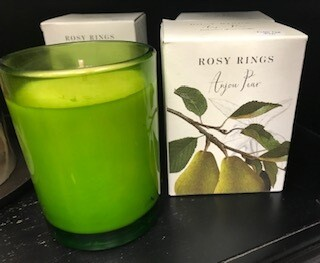 Candle/Rosy Ring/Botanical Glass jar/Anjou Pear/17 oz.