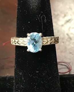 Ring/blue topaz/Made in Wyoming by Western Gallery