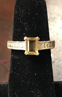 Ring/Citrine/Made in Wyoming by Western Gallery