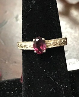Ring/garnet/Made in Wyoming by Western Gallery