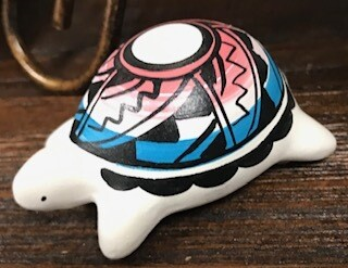Home decor/navajo handpainted turtle decor