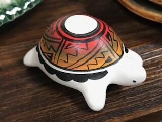 Home decor/navajo hand painted turtle decor