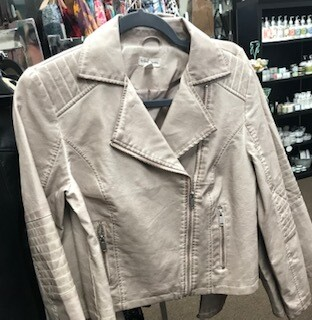 Apparel/jacket/soft rose faux leather xs/sm/med/lg/xl