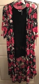 Apparel/duster/one size fits most/rose