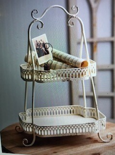 Home Decor/two tier Chantilly tray