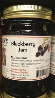 Baer Jam/Blackberry/Made in Wyo