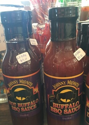 Johnny Midnite/Hot BBQ Sauce/made in Wyoming/