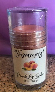 Land of Lavender/Large Shimmery Peach Lip Balm