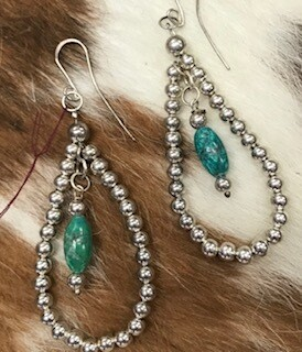 Sandy K Design Jewelry/Sterling silver and turquoise earring