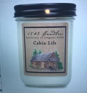 Candle/1803/14oz. jar/cabin Life