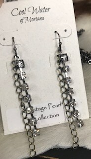 Coolwater Jewelry/earring/dangle with rhinestones