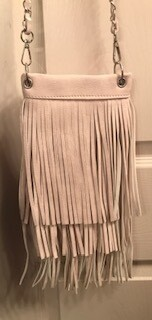crossbody bag by Chic/ivory fringe