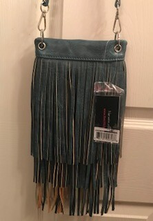 Crossbody bag by Chic/grey with fringe