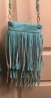 Crossbody bag by Chic/turquoise with fringe