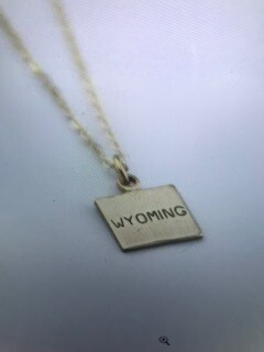 Necklace/Wyoming/gold plated