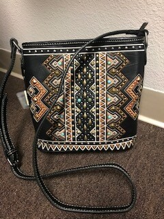 Montana West/Black with aztec design