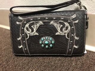 Montana West/black wallet/wristlet