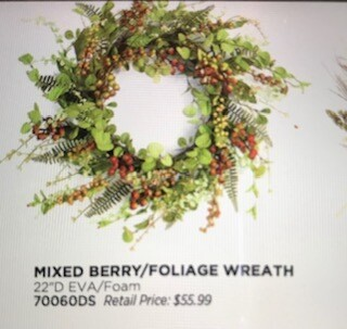 Home decor by Melrose/mixed berry foliage wreath