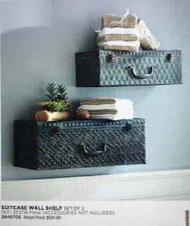 Home decor by Melrose/suitcase wall decor/shelving/19.5
