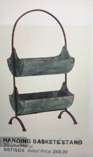 """Home decor by Melrose/hanging basket stand/metal/25.5"""""""