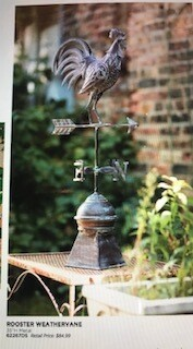 Home decor by Melrose/rooster weather vane/35