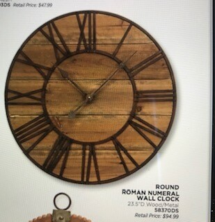 Home decor by Melrose/clock/23.5 Diameter